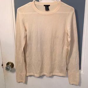 Theory Wool Blend Thin Knit Crewneck Sweater